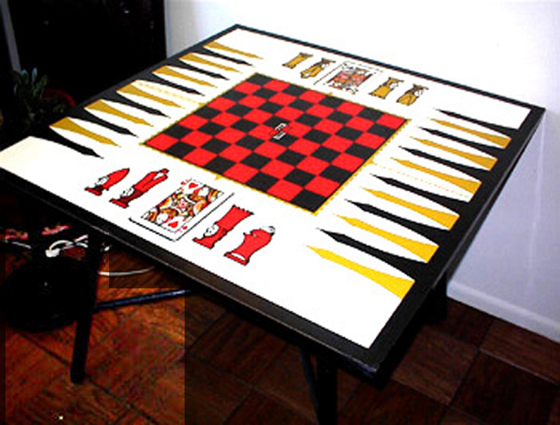 Bon Checkers And Poker Game Table